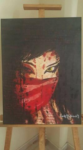 Una obra dramática e intensa, simboliza el dolor interior. Pintura al óleo.